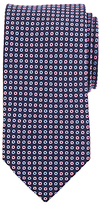 John Lewis Mini Circle Silk Tie, Navy/pink
