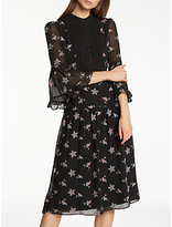 Somerset by Alice Temperley Daisy Embroidery Dress, Black