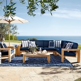 Williams-Sonoma Larnaca Outdoor 3-Piece L-Shaped Teak Sofa Sectional, Left
