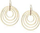 Jessica Simpson Hammered Drop Multi-Gold Hoop Earrings
