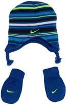 Nike Baby Boy Striped Beanie And Mitten Set
