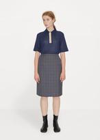 Maison Margiela Merino Check Pencil Skirt