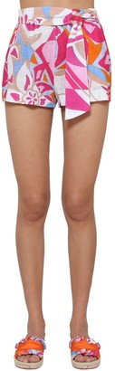 Emilio Pucci Rustic Printed Cotton Shorts