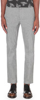 Anglomania Houndstooth slim-fit stretch-cotton chinos