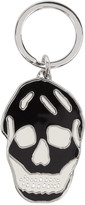 Alexander McQueen Black and White Skull Keychain