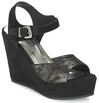 Myma RAPHIA women's Sandals in Black