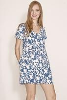 Velvet Nazrena Dress in Teal