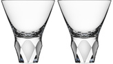 Orrefors Facet-Cut Crystal Carat Martini Glasses Set of 2)