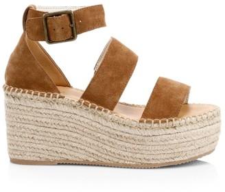 Soludos Palma Suede Espadrille Platform Wedge Sandals
