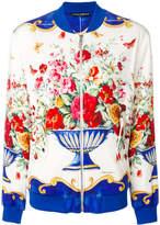 Dolce & Gabbana Majolica print bomber jacket