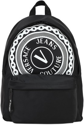 Versace Jeans Couture Maxi Logo Nylon Backpack