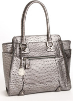 London Fog Ostrich Embossed Tote