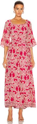 Natalie Martin Mesa Maxi Dress in Wing Print Bougainvillea Pink   FWRD