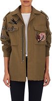 Valentino Women's Embellished Cotton-Linen Army Jacket
