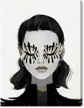 Oliver Gal Eyelash Petals Girl Canvas Wall Art