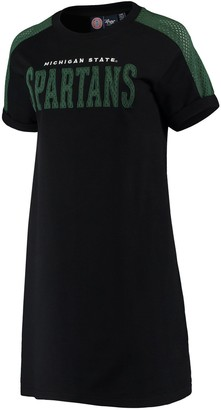 G Iii Women's G-III 4Her by Carl Banks Black Michigan State Spartans Training Camp Tee Dress