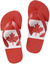 Joe Fresh Kid Boys' Canada Flip Flops, Red (Size M)