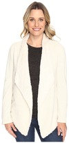 Dylan by True Grit Luxe Fur And Fleece Drape Jacket with Lining