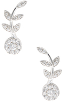 Rina Limor Fine Jewelry 18K White Gold & 0.64 Total Ct. Diamond Flower Ear Climbers