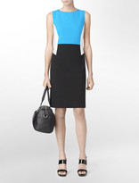 Calvin Klein Exposed Zip Colorblock Sheath