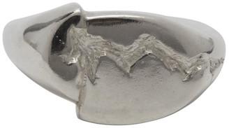 SWEETLIMEJUICE Silver Split Signet Ring