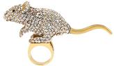 Betsey Johnson Rhinestone Pavé Mouse Ring