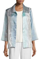 Caroline Rose Organza Ombre Easy Shirt, Petite