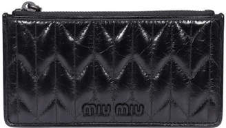 Miu Miu Zipped Leather Cards Holder