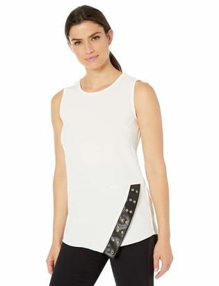 Calvin Klein Women's Sleeveless Asymmetrical Blouse