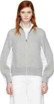 Sacai Grey Zip-up Sweater