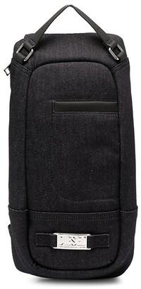 Diesel Logo Plaque Denim One-Shoulder Backpack