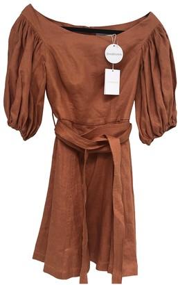 Zimmermann Orange Linen Dress for Women