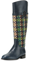 Tory Burch Miller Tweed/Leather Knee Boot
