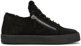 Giuseppe Zanotti Zip-detailed Suede Sneakers