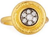 Gurhan Moonstruck 24k Round Pave Diamond Ring, Size 6.5