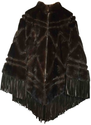 Christian Dior Brown Fur Coats