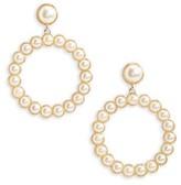 BP Women's Imitation Pearl Drop Earrings