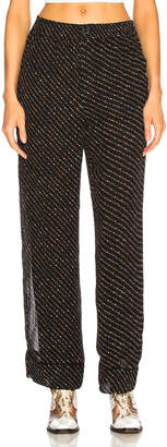 Ganni Printed Georgette Pants in Black | FWRD