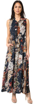 Just Cavalli Desert Garden Lace Up Maxi Dress