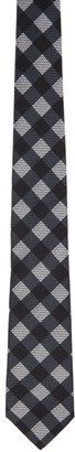 Fendi Black Checked Forever Silk Tie