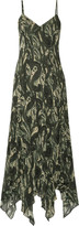 Haute Hippie Marty's Girlfriend ruffled printed silk-chiffon maxi dress