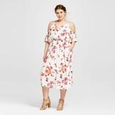Xhilaration Women's Plus Size Ruffle Maxi Dress Floral Print