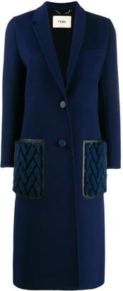 Fendi Cashmere Double-Breasted Long Coat