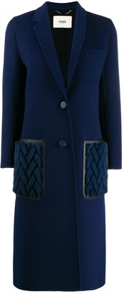 Fendi cashmere double-breasted long coat