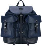 Salvatore Ferragamo multi-pocket backpack - men - Leather - One Size