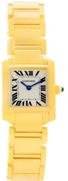 Cartier Tank Francaise W50002N2 18K Yellow Gold Quartz 20mm Womens Watch