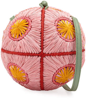 Sophie Anderson Saba Straw Sphere Crossbody Bag