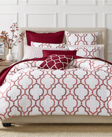Charter Club CLOSEOUT! Damask Designs Garnet Ogee 2 Piece Twin Comforter Set, Created for Macy's