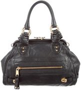 Marc Jacobs Leather Kiss-Lock Satchel