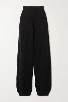 L.F. Markey Eddie Twill-trimmed Knitted Track Pants - Black
